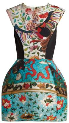 Mary Katrantzou Rooster Floral Print Dress - Womens - Blue Multi