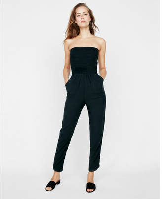 Express strapless smocked jumpsuit