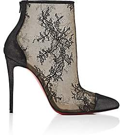 Christian Louboutin Women's Gipsybootie Lace Ankle Booties-Black