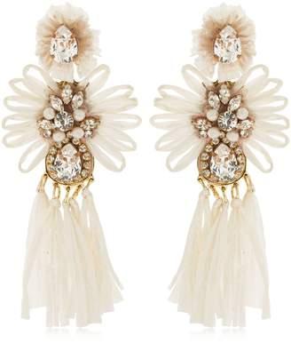 Shourouk Sicily White Clip-On Earrings