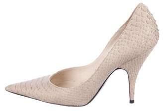 Christian Dior Python Pointed-Toe Pumps