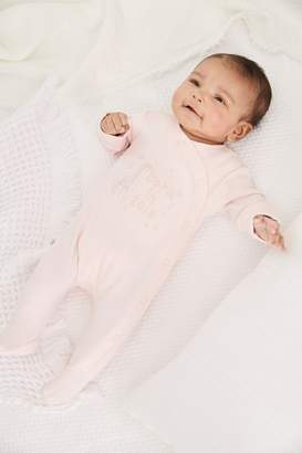 Next Girls Pink Born In 2019 Sleepsuit (0-9mths) - Pink
