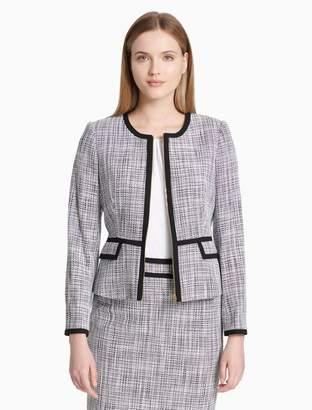 Calvin Klein novelty zip front jacket