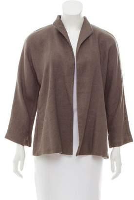 Eileen Fisher Open Front Linen Jacket
