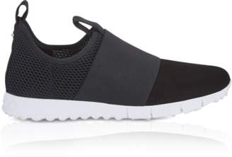Jimmy Choo Oakland/M Black Mesh and Suede Slip on Trainers