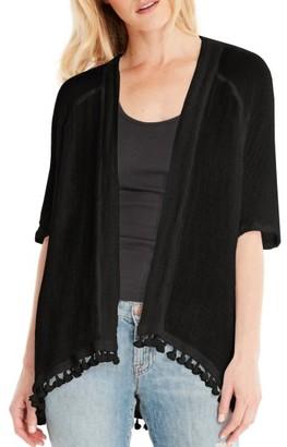 Women's Michael Stars Tassel Trim Kimono Wrap $118 thestylecure.com