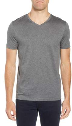 BOSS Teal Slim Fit V-Neck T-Shirt