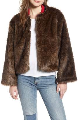 Levi's Made & Crafted(TM) Jetsetter Crop Faux Fur Bomber Jacket