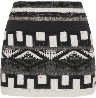 Alice + Olivia Alice Olivia - Elana Jacquard Mini Skirt - Black