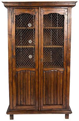 One Kings Lane Vintage Reclaimed Wood Display Cabinet