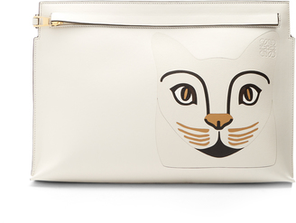 Cat T leather pouch