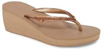 Havaianas High Metal Grega Wedge Flip Flop (Women)