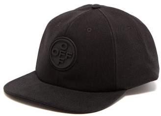 Off-White Off White Logo Embossed Cotton Cap - Mens - Black