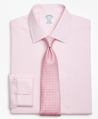 Brooks Brothers Regent Fitted Dress Shirt, Non-Iron Tonal Framed Stripe