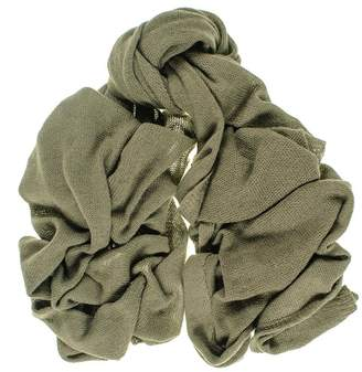 Black Oversized Military Green Knitted Cashmere Scarf