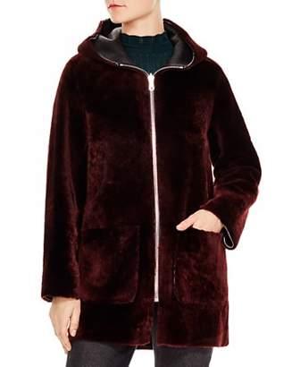 Sandro Aconit Real Lamb Shearling Coat