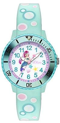 S'Oliver Girls' Analogue Quartz Watch with Silicone Strap SO-3498-PQ