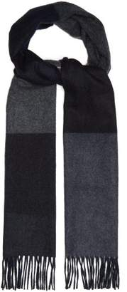 Co Begg & Vigo Striped Wool And Cashmere Blend Scarf - Mens - Black Multi