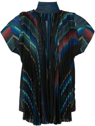 Sacai high neck striped top