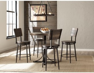Hillsdale Furniture Jennings 5 Piece Counter Height Dining Set with Swivel Counter Height Stools
