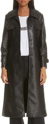 Nili Lotan Leather Trench Coat