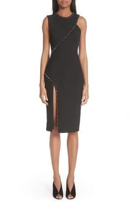 Versace Asymmetrical Stud Detail Dress