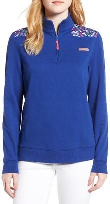 Women's Vineyard Vines Shep School Of Whales Quarter Zip Sweatshirt $125 thestylecure.com