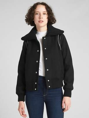 Gap Varsity Wool Bomber Jacket