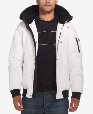 Sean John Men Hooded Bomber Jacket