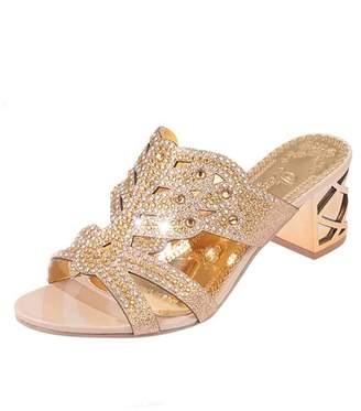 e1fb8a58b583 Bohemia Theshy-women shoes Theshy Women Rhinestone Slippers for Women  Fashion Open Toe Shoes Heels