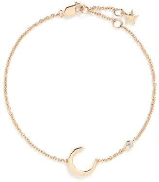 LC Collection Jewellery 'Lucky Charm' diamond 18k yellow gold moon bracelet