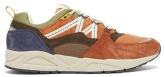 Karhu Ruska Fusion Panelled Suede Trainers - Mens - Brown Multi
