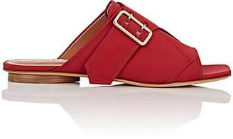 Derek Lam Women's Noa Satin Slide Sandals - Deep Red