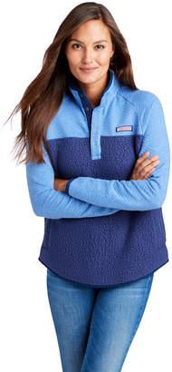 Vineyard Vines Mixed Media Snap Placket Sherpa Shep Shirt