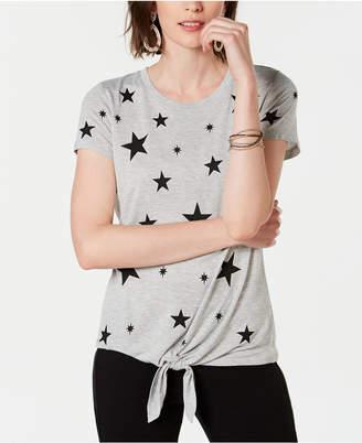 INC International Concepts I.n.c. Star-Print Front-Tie T-Shirt