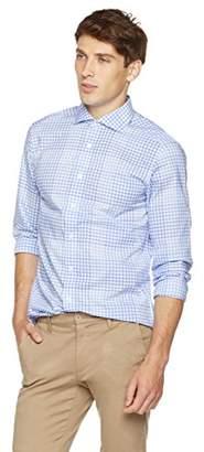 M Blue Clifton Heritage Men's Slim Fit Long-Sleeve Cutaway Collar Button-Up Shirt XS