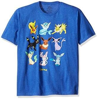 Pokemon Men's Eevee Evolution Short Sleeve T-Shirt
