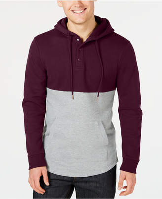 American Rag Men's Colorblocked Fleece Hoodie