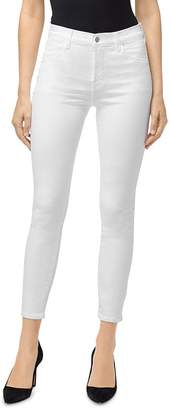 J Brand Alana High-Rise Ankle Skinny Jeans in White Krystal
