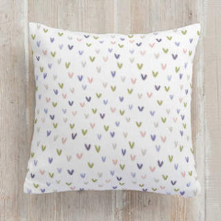 Watercolor Hearts Square Pillow
