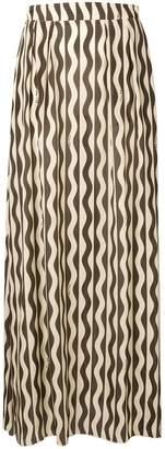 L'Autre Chose wave print maxi skirt