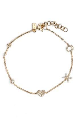 Ef Collection Diamond Sweetheart Charm Bracelet