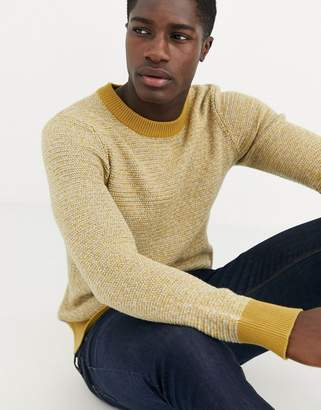 Selected multi yarn knitted jumper in 100% BCI cotton