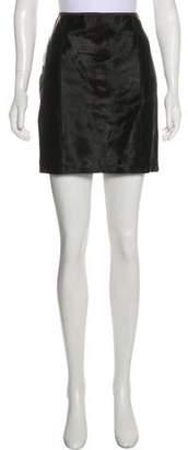 Ralph Lauren Black Label Ponyhair Mini Skirt