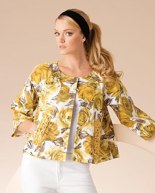 Karen Kane Floral Print Jacket