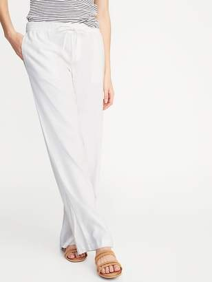 97c8b7ed5e8a Old Navy Mid-Rise Wide-Leg Linen-Blend Pull-On Pants for
