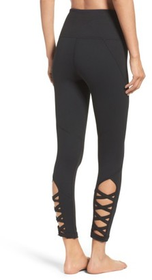 Women's Zella High Waist Lattice Midi Leggings $65 thestylecure.com
