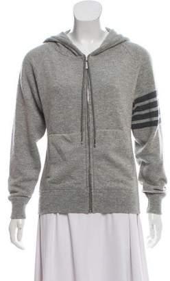 Thom Browne Hooded Zip-Up Sweater