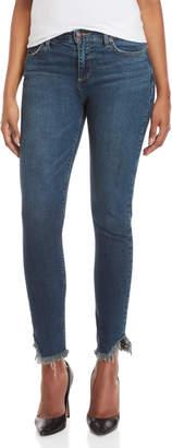 Lucky Brand Ava Frayed Hem Mid-Rise Skinny Jeans