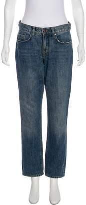 Victoria Beckham Victoria Mid-Rise Straight-Leg Jeans